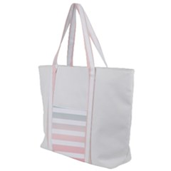 Horizontal Pinstripes In Soft Colors Zip Up Canvas Bag by shawlin