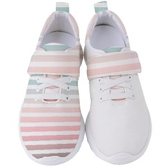 Horizontal Pinstripes In Soft Colors Women s Velcro Strap Shoes by shawlin