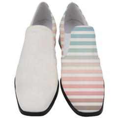 Horizontal Pinstripes In Soft Colors Women Slip On Heel Loafers by shawlin