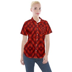 Hintergrund Women s Short Sleeve Pocket Shirt