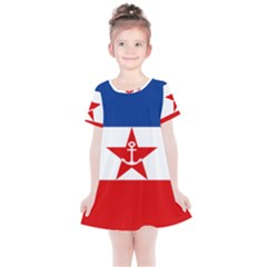 Naval Ensign Of Yugoslavia, 1943 1949 Kids  Simple Cotton Dress