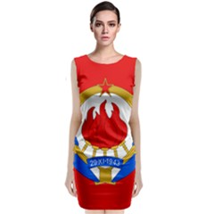 Naval Jack Of Yugoslavia, 1956 1963 Classic Sleeveless Midi Dress by abbeyz71