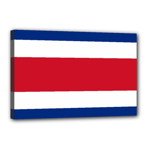 National Flag Of Costa Rica Canvas 18  X 12  (stretched)