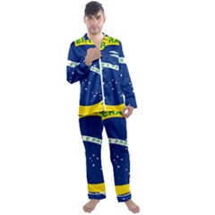 National Seal Of Brazil Men s Satin Pajamas Long Pants Set