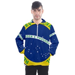 National Seal Of Brazil Men s Half Zip Pullover by abbeyz71