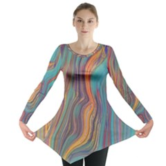 Colorful Sketch Long Sleeve Tunic  by bloomingvinedesign