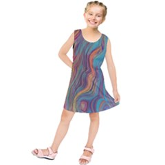 Colorful Sketch Kids  Tunic Dress