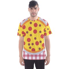 Pizza Table Pepperoni Sausage Copy Men s Sports Mesh Tee