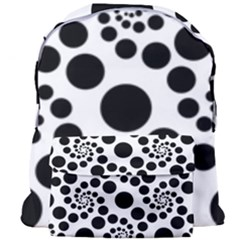 Dot Dots Round Black And White Giant Full Print Backpack