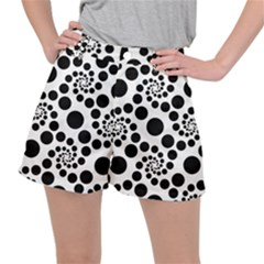 Dot Dots Round Black And White Ripstop Shorts