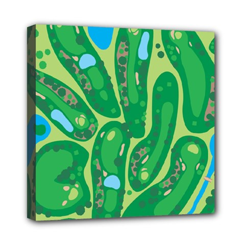Golf Course Par Golf Course Green Copy Mini Canvas 8  X 8  (stretched) by Nexatart