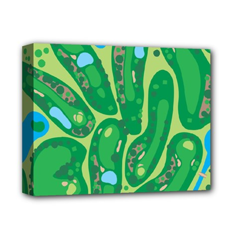 Golf Course Par Golf Course Green Copy Deluxe Canvas 14  X 11  (stretched) by Nexatart