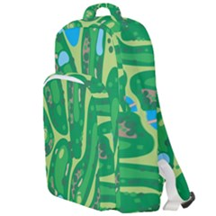 Golf Course Par Golf Course Green Copy Double Compartment Backpack