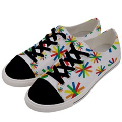 Celebrate Pattern Colorful Design Men s Low Top Canvas Sneakers by Nexatart