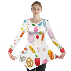 Summer Fair Food Goldfish Long Sleeve Tunic  by Nexatart