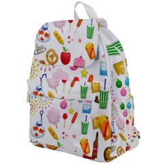 Summer Fair Food Goldfish Top Flap Backpack