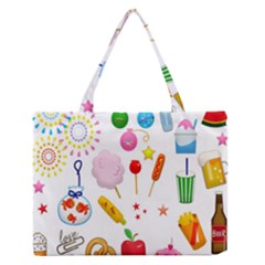 Summer Fair Food Goldfish Zipper Medium Tote Bag by Nexatart