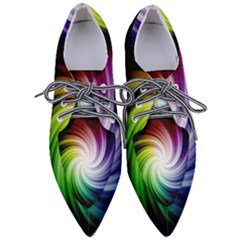 Rainbow Swirl Twirl Pointed Oxford Shoes
