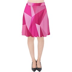 Pattern Halftone Geometric Velvet High Waist Skirt