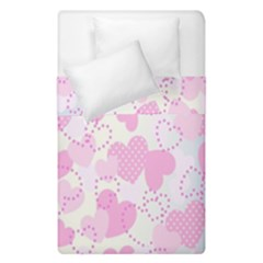 Valentine Background Hearts Bokeh Duvet Cover Double Side (single Size)