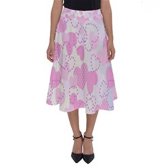 Valentine Background Hearts Bokeh Perfect Length Midi Skirt