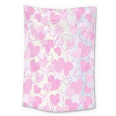 Valentine Background Hearts Bokeh Large Tapestry