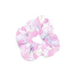 Valentine Background Hearts Bokeh Velvet Scrunchie