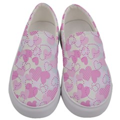 Valentine Background Hearts Bokeh Men s Canvas Slip Ons