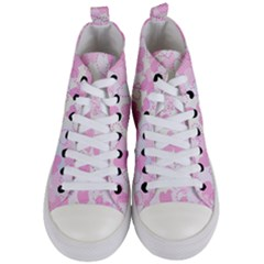 Valentine Background Hearts Bokeh Women s Mid Top Canvas Sneakers