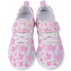 Valentine Background Hearts Bokeh Women s Velcro Strap Shoes