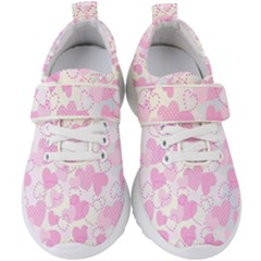 Valentine Background Hearts Bokeh Kids  Velcro Strap Shoes
