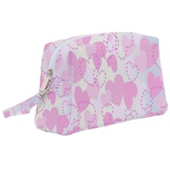 Valentine Background Hearts Bokeh Wristlet Pouch Bag (large)