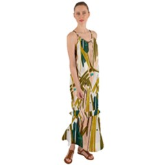 Abstract Brushstrokes Cami Maxi Chiffon Dress