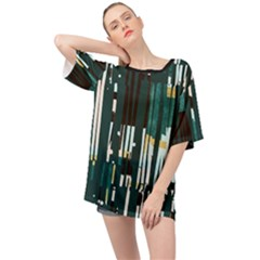 Jungle Stripe Oversized Chiffon Top by JoneienLeahCollection