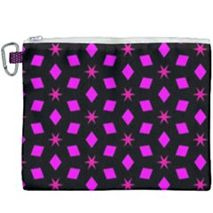 Pattern Stars Squares Texture Canvas Cosmetic Bag (xxxl)