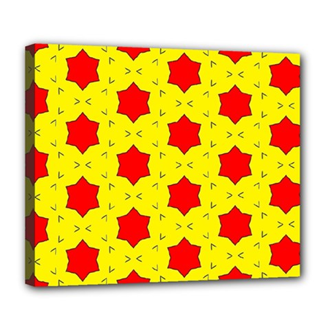 Pattern Red Star Texture Star Deluxe Canvas 24  X 20  (stretched) by Nexatart