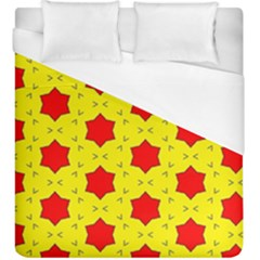 Pattern Red Star Texture Star Duvet Cover (king Size)