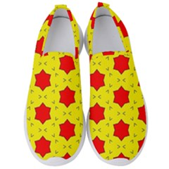 Pattern Red Star Texture Star Men s Slip On Sneakers