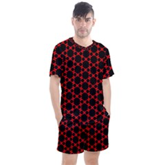 Pattern Seamless Texture Design Men s Mesh Tee And Shorts Set