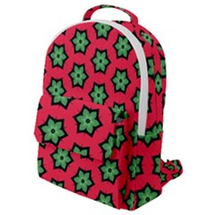 Pattern Flower Pattern Seamless Flap Pocket Backpack (small)
