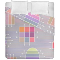 Pastels Shapes Geometric Duvet Cover Double Side (california King Size) by Nexatart