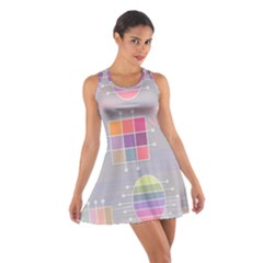 Pastels Shapes Geometric Cotton Racerback Dress