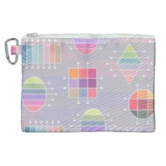 Pastels Shapes Geometric Canvas Cosmetic Bag (xl)