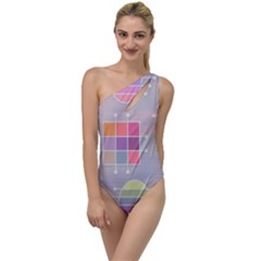Pastels Shapes Geometric To One Side Swimsuit by Nexatart