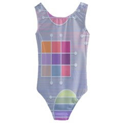 Pastels Shapes Geometric Kids  Cut-out Back One Piece Swimsuit