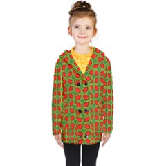 Pattern Modern Texture Seamless Kids  Double Breasted Button Coat