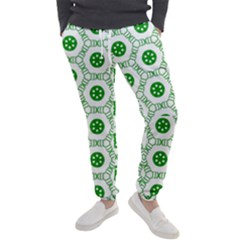 White Background Green Shapes Men s Jogger Sweatpants