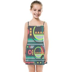 Background Colors Abstract Shapes Kids  Summer Sun Dress