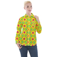 Pattern Texture Seamless Modern Women s Long Sleeve Pocket Shirt