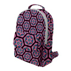 Background Pattern Tile Flap Pocket Backpack (large)